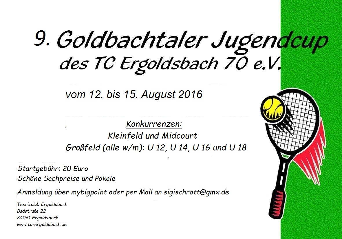 Flyer Jugendcup 2016