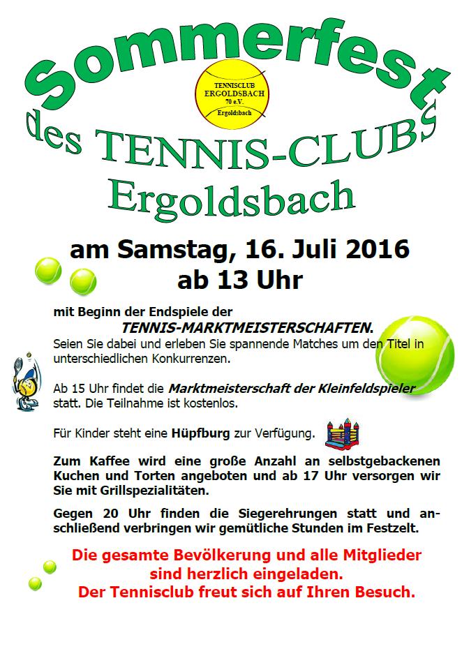 einladung zum sommerfest 2016 – tc ergoldsbach, Einladung
