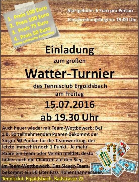 Watter-Turnier 2016