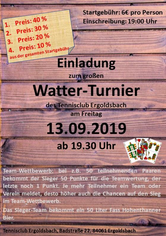 Flyer Wattturnier